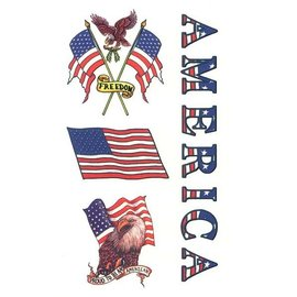 Johnson And Mayer Proud American Temporary Tattoos by Johnson And Mayer