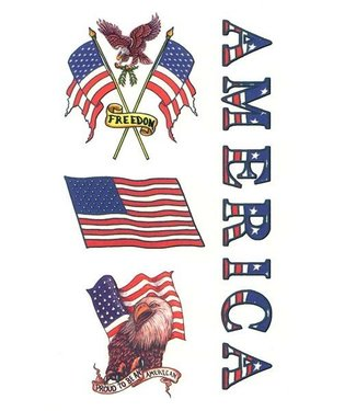 Johnson & Mayer Proud American Temporary Tattoos
