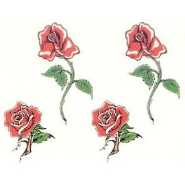 Johnson And Mayer Four Roses Temporary Tattoos by Johnson And Mayer