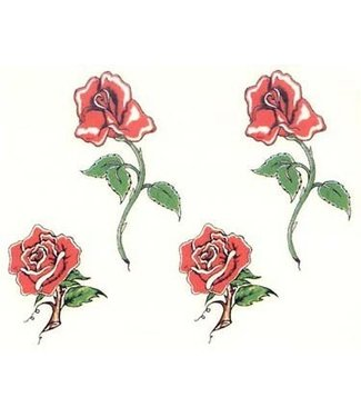 Johnson & Mayer Four Roses Temporary Tattoos
