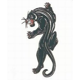 Johnson And Mayer Blue Panther Temporary Tattoo by Johnson And Mayer