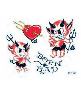 Johnson & Mayer Born Bad Devils Temporary Tattoos