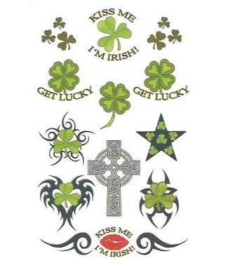 Johnson & Mayer Irish Temporary Tattoos