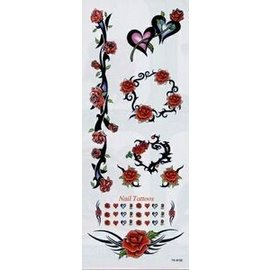 Heart Rose Temporary Tattoos by Johnson And Mayer