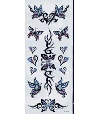 Johnson & Mayer Tribal Butterflies Temporary Tattoos