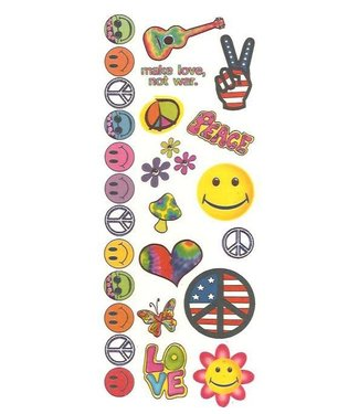 Hippie #1 Temporary Tattoos by Johnson And Mayer
