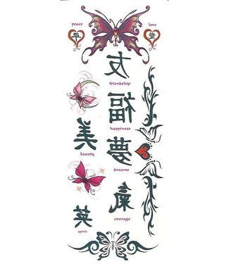 Asian Butterflies Temporary Tattoos by Johnson And Mayer