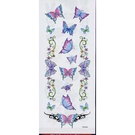Glitter Butterfly Garden Temporary Tattoos by Johnson And Mayer