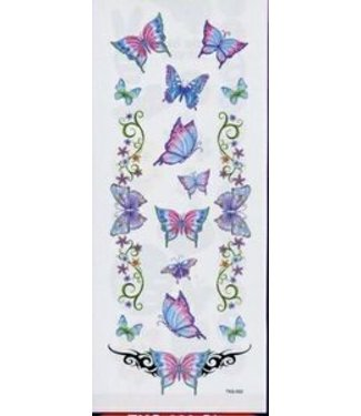 Johnson & Mayer Glitter Butterfly Garden Temporary Tattoos