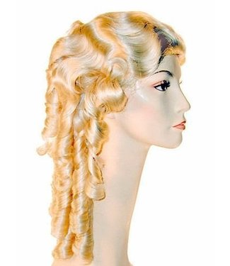 Morris Costumes and Lacey Fashions 1840 P Blonde 613 Wig