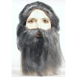 Morris Costumes and Lacey Fashions Coal Miner AT1005 Grey Wig And Beard