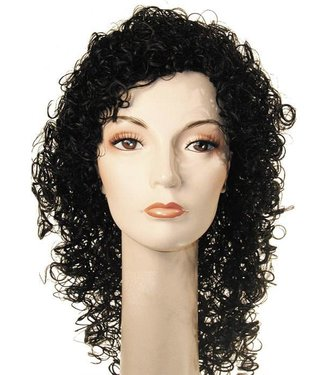 Morris Costumes and Lacey Fashions New Curly Michael Black Wig
