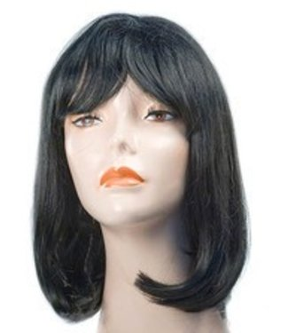 Morris Costumes and Lacey Fashions Prom 1960s Pageboy, Black Wig