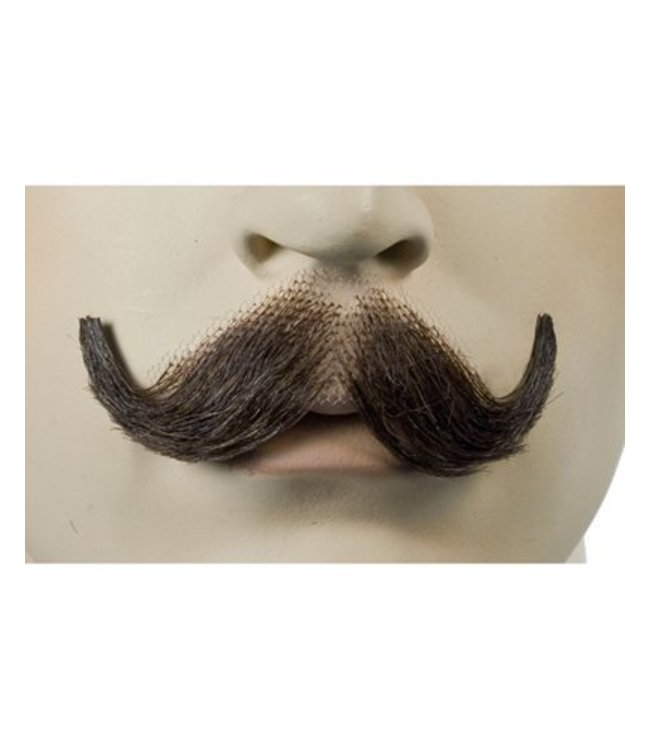Morris Costumes and Lacey Fashions English Moustache Black Human Hair