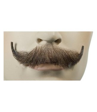 Morris Costumes and Lacey Fashions English Moustache Brown 4 Human Hair