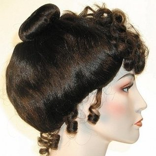Morris Costumes Gibson Girl Deluxe - Brown Wig