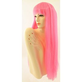 Morris Costumes and Lacey Fashions Long Pageboy Lt, Pink Wig