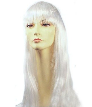 Morris Costumes and Lacey Fashions Long Pageboy, White Wig