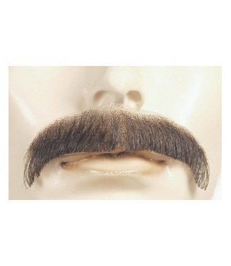 Morris Costumes and Lacey Fashions Moustache M1 - Villain, White Human Hair