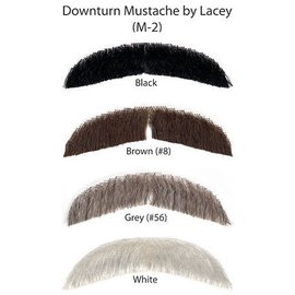 Morris Costumes and Lacey Fashions Downturn Moustache, Black 1 M2