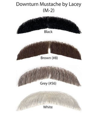 Morris Costumes and Lacey Fashions Downturn Brown 6 M2 Moustache Human Hair