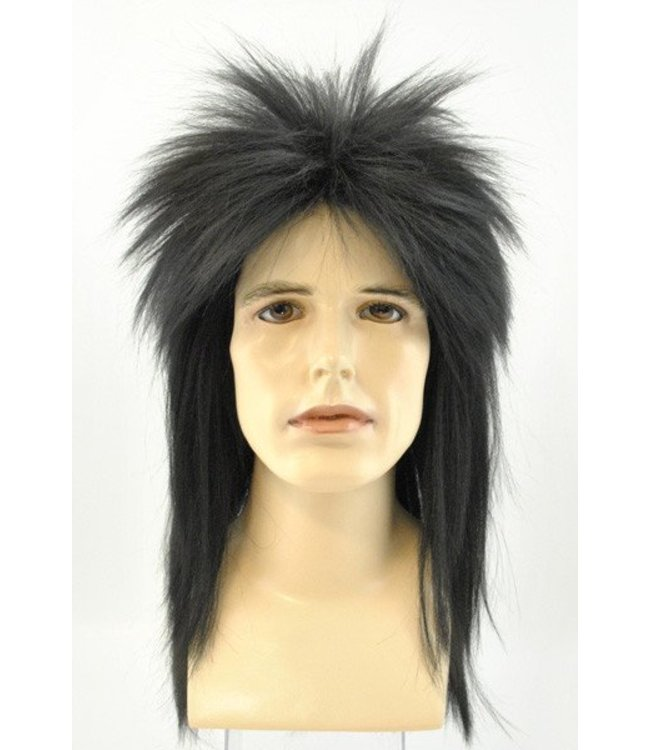 Morris Costumes and Lacey Fashions Punk Fright, Dlx Black - Wig