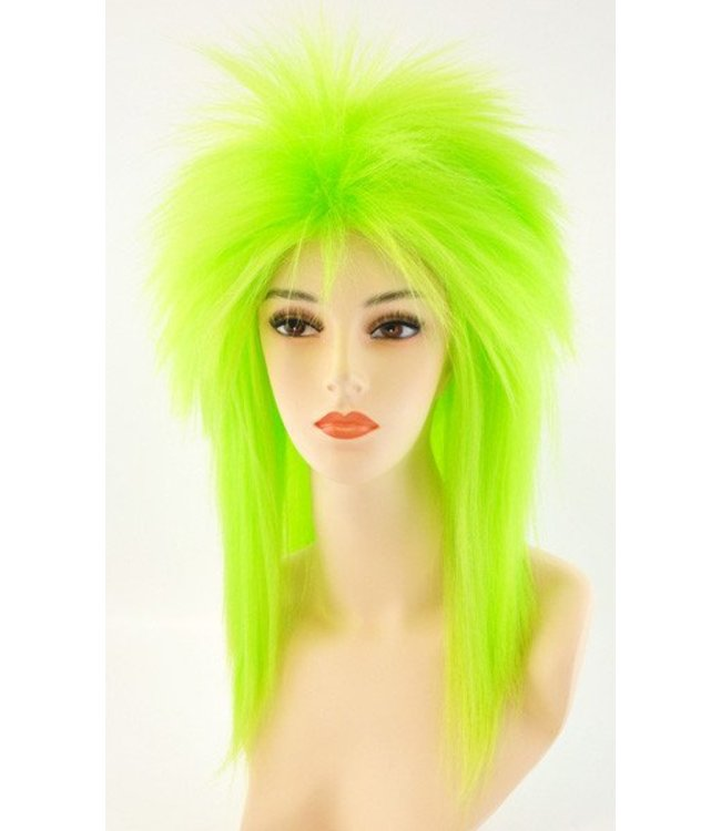 Morris Costumes and Lacey Fashions Punk Fright, Green - Wig