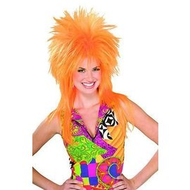 Morris Costumes Punk Fright, Orange - Wig