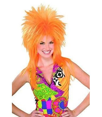 Morris Costumes and Lacey Fashions Punk Fright, Orange - Wig