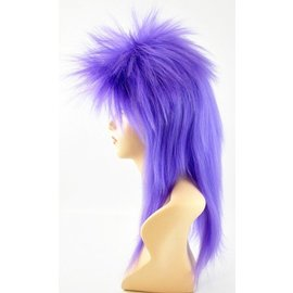 Morris Costumes and Lacey Fashions Punk Fright, Purple - Wig