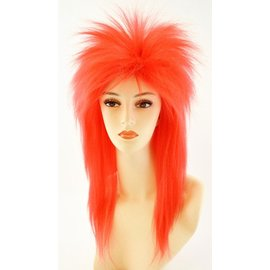 Morris Costumes Punk Fright, Red - Wig