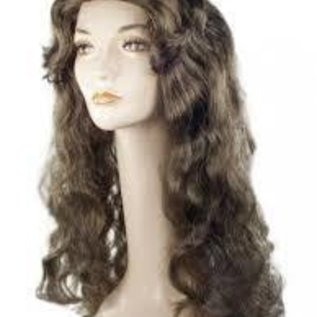 Morris Costumes and Lacey Fashions Deluxe Showgirl M Brown 4 Wig