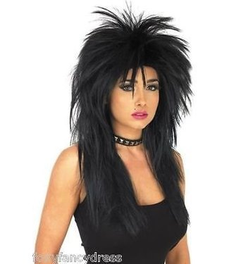 Morris Costumes and Lacey Fashions Tina, Deluxe  - Black Wig