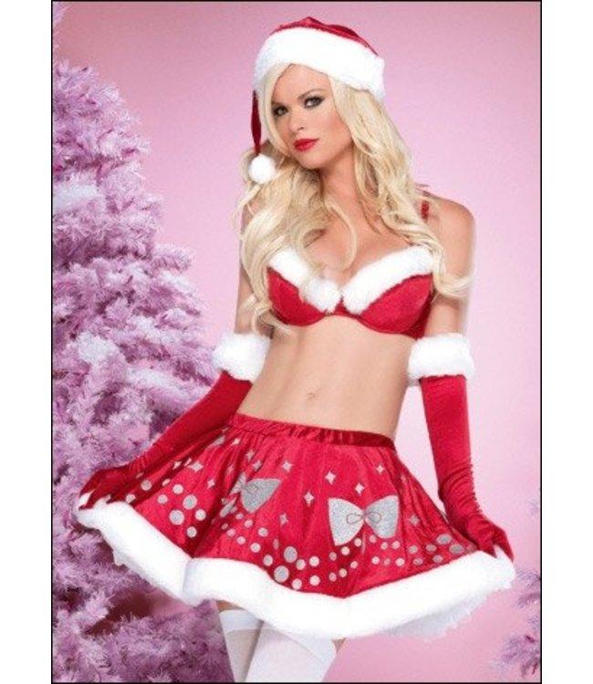Leg Avenue Miss Glitter Santa Girl - Leg Avenue Med
