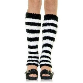 Leg Avenue Leg Warmers - Black/White (C4)