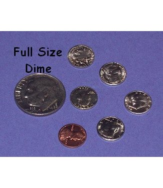 "Dozen Mini U.S. Coins - 3/8"" Eisenhower Dollar - Coin (M10)"