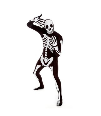 Morphsuits Skeleton Morphsuit - Black 2XL Plus