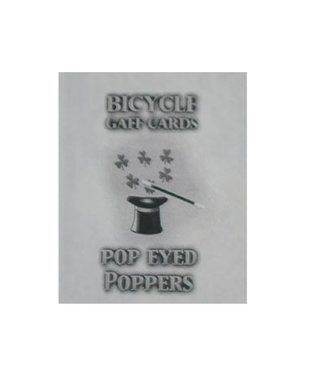 Card - Pop Eyed Popper Deck Bicycle, Blue by Murphy's Magic (M10)