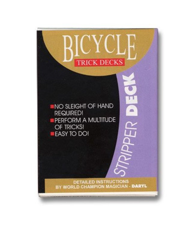 United States Playing Card Company Stripper Deck Bicycle - Blue (m12)