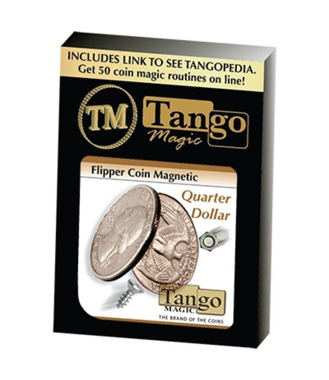 Flipper Coin, Magnetic Quarter Dollar by Tango Coin (M10)