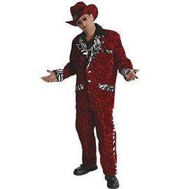 Rasta Imposta Big Daddy Pimp, Red with Zebra - Large