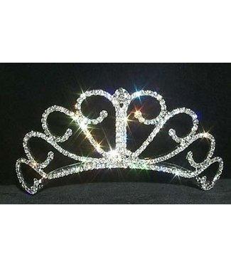 Raised Princess Tiara - 2 inch Rhinestone Jewelry Corporatrion