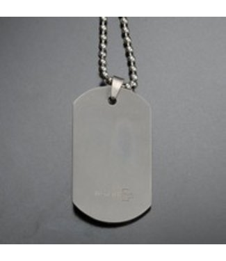 Silver Dog Tag And Chains by Rothco
