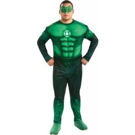 Rubies Costume Company Adult Green Lantern Hal Jordan Deluxe Muscle Chest Costume Plus Size