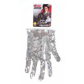 Rubies Costume Company Michael Jackson Silver Sequin Glove (C4)
