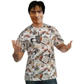 Rubies Costume Company Charlie Sheen Mask and Shirt - Adult Extra Earge