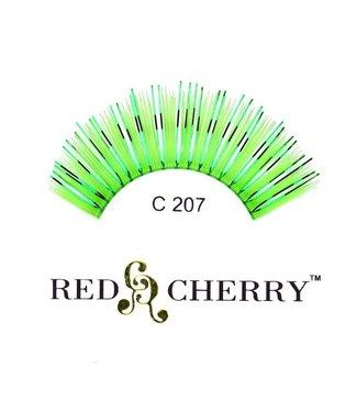 Red Cherry Eyelashes Green Mylar C207