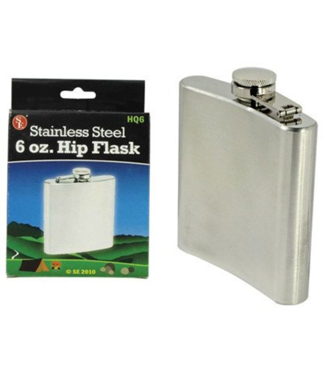 Stainless Steel 6 oz. Hip Flask by Sona Enterprises
