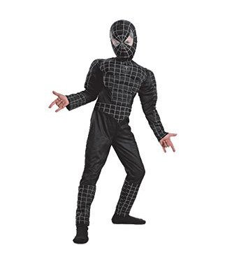 Disguise Black Suited Spider-Man 3 - Muscle Child 10-12