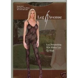 Leg Avenue Boudoir Rose Lace Bodystocking - Leg Avenue